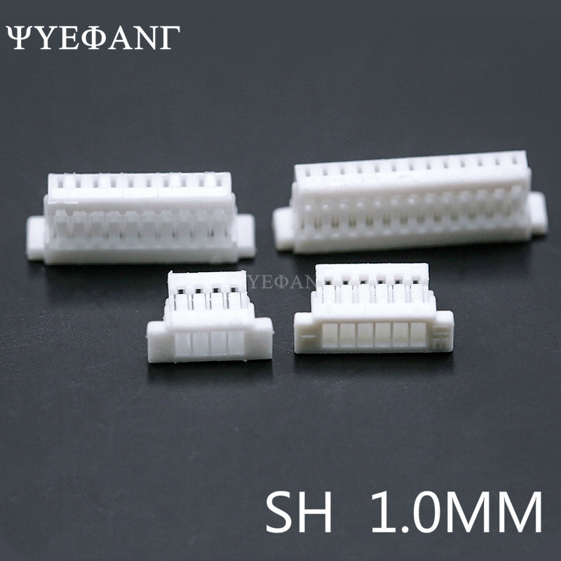 50PCS JST SH1.0 Connector 1.0mm Pitch Housing Wire To Board 2P 3P 4P 5P 6P 7P 8P 9P 10P