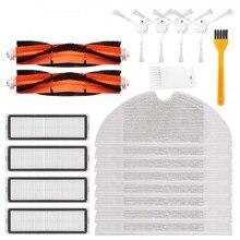 -20 pces hepa filtro principal escova mop pano kits de substituição para xiaomi mijia 1c stytj01zhm robô aspirador de pó acessórios