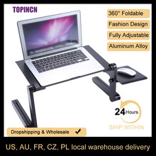 Portátil móvel portátil suporte de mesa para cama sofá portátil dobrável mesa notebook com mouse pad para escritório em casa computador mesa