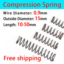 Compressed Spring Pressure Spring Return Spring Release Spring Spot Goods Wire Diameter 0.9mm, Outer Diameter 15mm