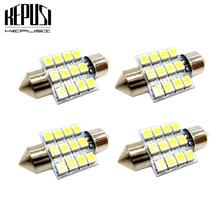 цена на 4x 31mm c5w LED bulb 3528 c10w Festoon Vanity Mirror Sun Visor Lights Bulb Auto Dome Light Car Interior Lamp Map light 12V White