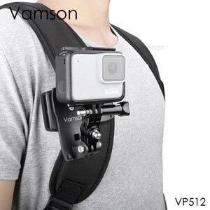 Image 1 - Vamson Pro עבור 9 8 אביזרי 360 תואר סיבוב קליפ עבור GoPro גיבור 9 8 7 6 5 4 3 + עבור יי 4K עבור SJCAM עבור SJ4000 VP512