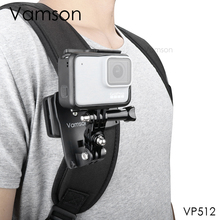 Vamson for Go Pro 9 8 Accessories 360-Degree Rotation Clip For GoPro Hero 9 8 7 6 5 4 3+ for yi 4K for SJCAM for SJ4000 VP512 cheap Sony EKEN SOOCOO Xiaomi Yi CN(Origin) Skeletons Frames Bundle 1 Black
