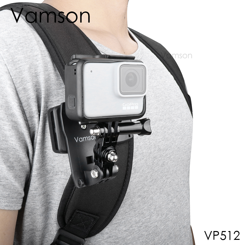 Vamson for Go Pro Accessories 360 Degree Rotation Clip For GoPro Hero 7 6 5 4 3+ 3 2 1 for Xiaomi yi for SJCAM for SJ4000 VP512-in Sports Camcorder Cases from Consumer Electronics