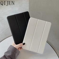 Étui pour tablette à trois volets pour Huawei MediaPad T5 8.0 JDN2-W09 support en cuir pour Huawei Honor Pad 5 / M5 Lite 8.0 pouces