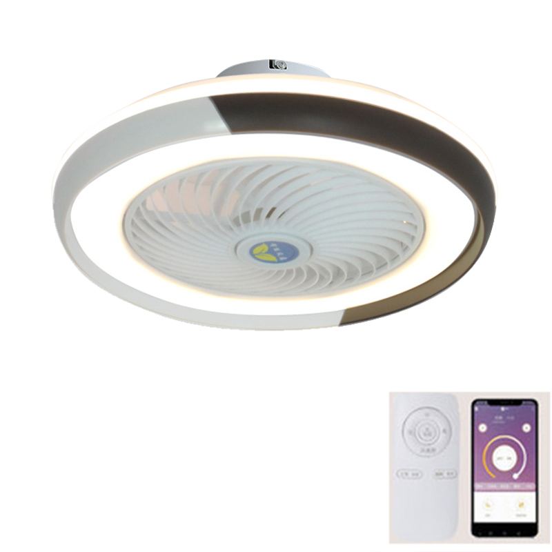 smart ceiling fan bedroom restaurant ceiling fans with LED lights and remote celing light with fan wifi Mobile app living room