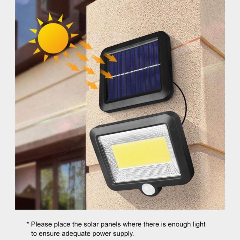 Outdoor COB 100LED Solar Lamp PIR Motion Sensor Path Night Lighting Infrarot Sensor Solar Garden Light For Home Sunlight