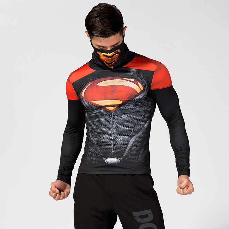 Ropa interior con solapa y cuello alto para hombre, camiseta de compresión con estampado 3D de Spiderman, traje de Capitán América, camisetas de superhéroes de cómics para hombres