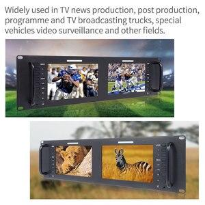 Image 2 - Feelworld Monitor de montaje en Rack LCD, D71 H Dual, 7 pulgadas, 3RU, IPS, 1280x800, HDMI, portátil, 2 pantallas, Monitor de transmisión