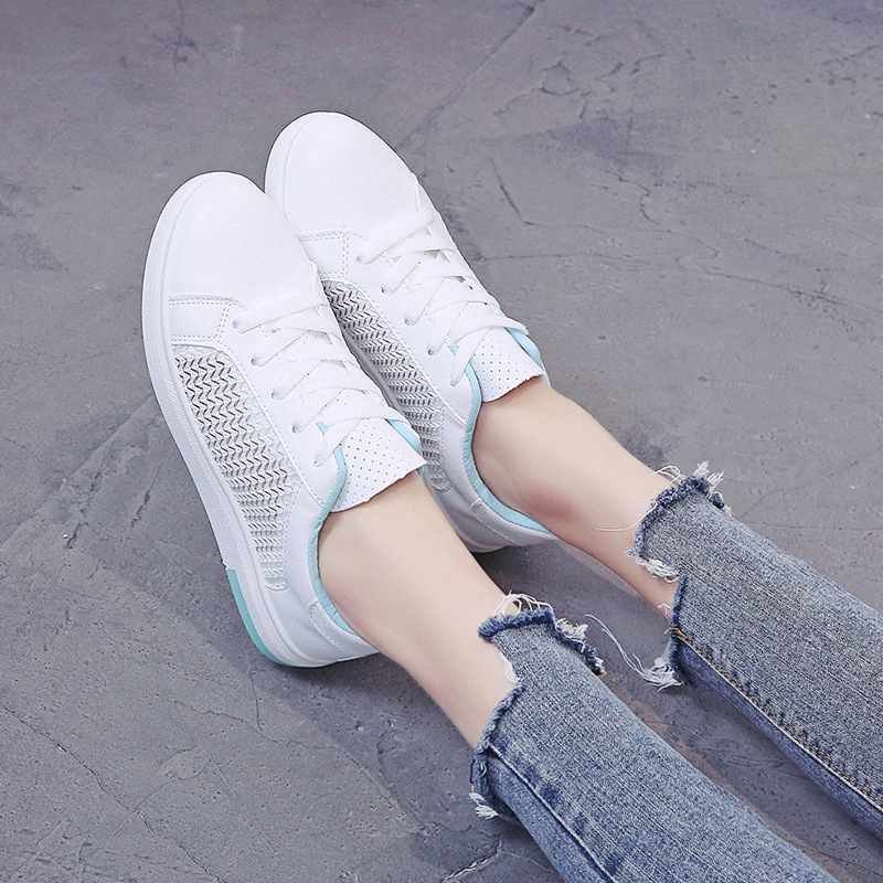 Sneakers Women Breathable Mesh Summer Autumn Women Causal Shoes Fashion White Leather Flat Walking Female Vulcanize Shoes VT1247 (9)