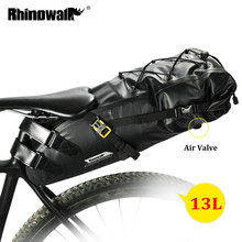 RHINOWALK 10L 13L 전체 방수 자전거 안장 가방 도로 산악 자전거 사이클링 후면 랙 가방 수하물 파니 자전거 액세서리