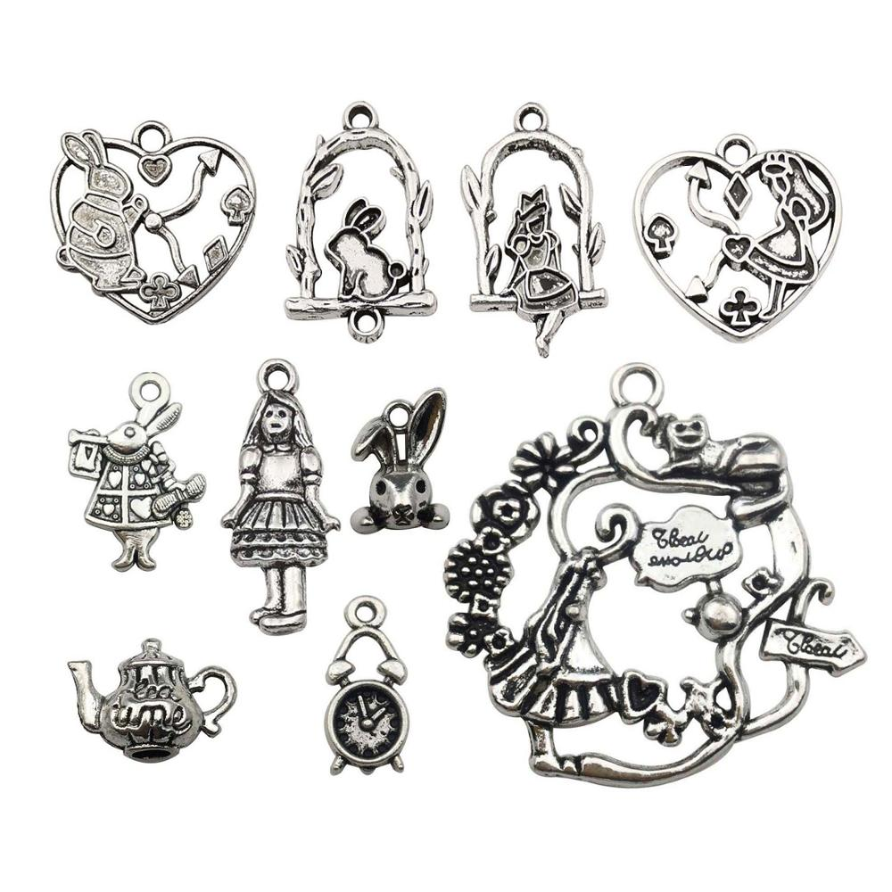 Fairy Charm//Pendant Tibetan Steampunk Antique Bronze 28mm  15 Charms Accessory