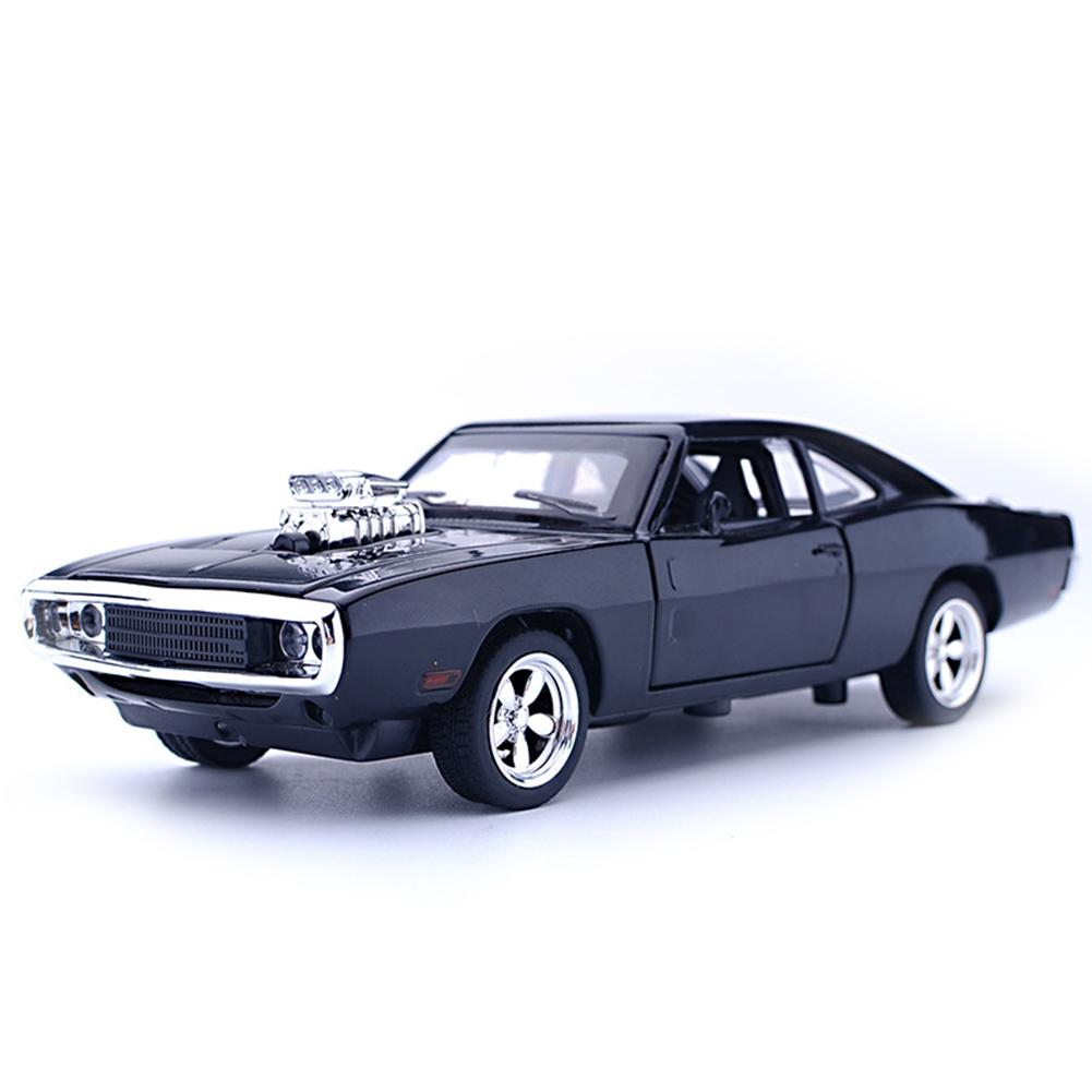 1:32 For Dodge Diecast Pull Back Car Music LED Model Kids Toy Tabletop Decor With Sound Light Pull Back Toy Car Gifts
