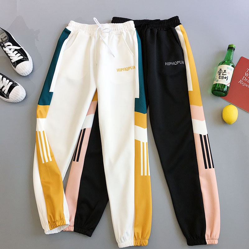 Women\'s Straight Pants Harajuku Style Loose Casual Harem Pants Sweatpants Simple High Waist Sport Style Pants 2019