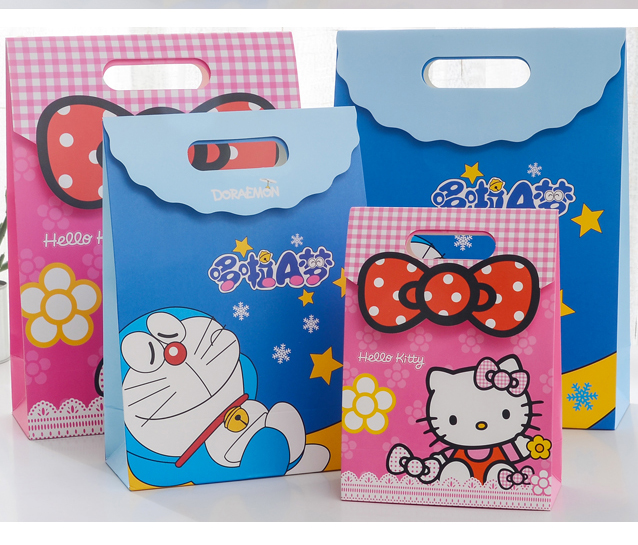 20 Pcs Cartoon Bowknot Flower Kt Sleep Doraemon Wedding Party Birthday Children S Day Paper Candy Gift Box Size S M L Gift Bags Wrapping Supplies Aliexpress