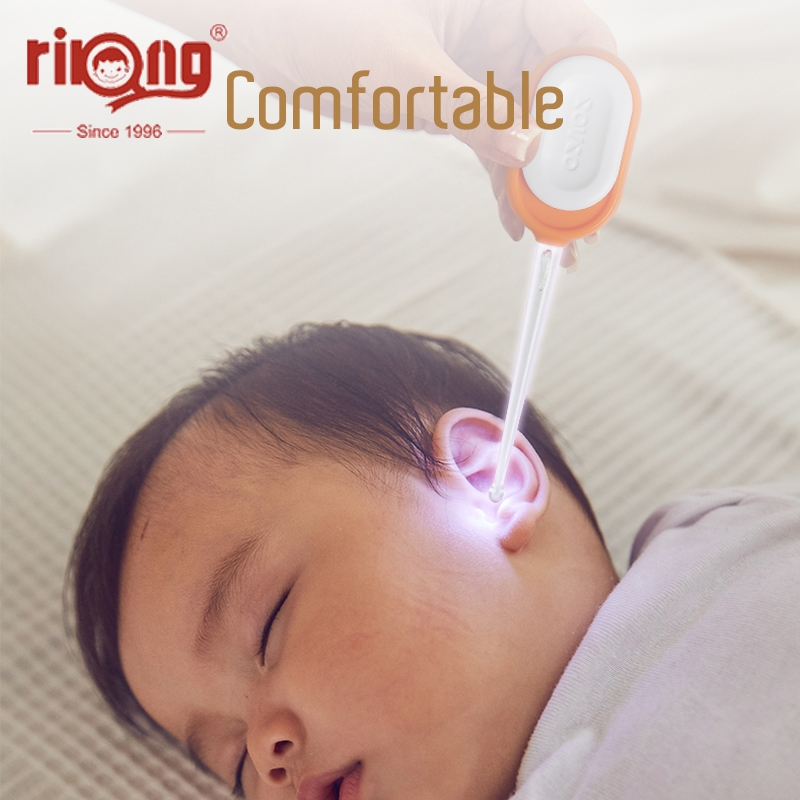 Rikang Baby Ear Cleaner LED Baby EarSpoon  Baby Care Ears Cleaning With Light Earwax Spoon Digging Ear Care Tool Ear Syringe
