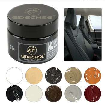 Auto Renovated Coating Paste Dyeing Leather Repair Rips Shoes Paint Interior Maintenance Filler Sofa Scratch Scuffs Holes Home spot advanced leather repair gel auto maintenance agent coating paste with 8 related tools vj drop