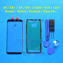 Front Outer Glass Lens Cover Replacement For Samsung Galaxy S8 S9 S10+ Note 8 9 10 Plus S10e LCD Touch glass & Tools