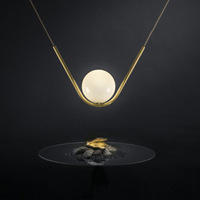 minimalist V pearl necklace pendant lamp light buffet restaurant cafe luxury combination personality LED lamps
