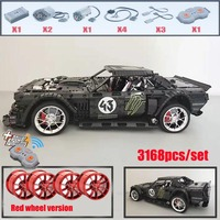 2019 New 1965 Ford Mustang Hoonicorn Racing Car fit Technic MOC 22970 FIT 20102 building block bricks kid toys gift