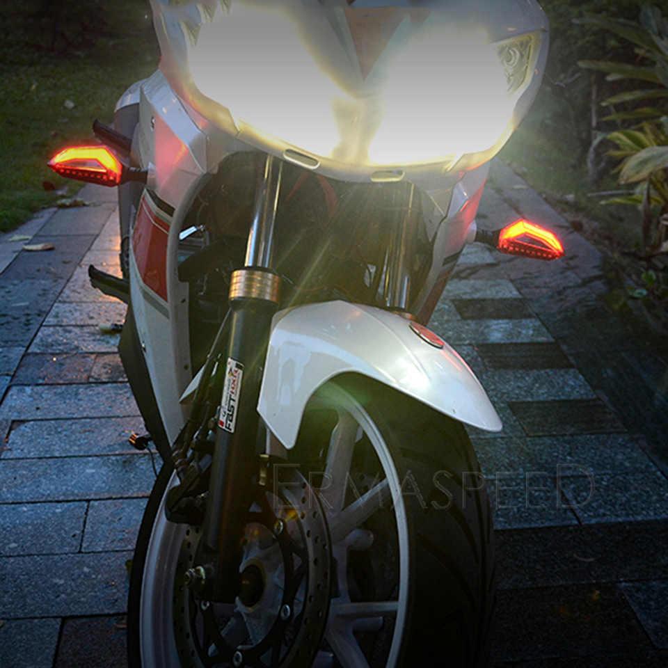 Универсальный поворотники мотоциклы светильник s Led мигалка Янтарный гибкий стоп сигналы заднего направления Кафе Racer задний светильник