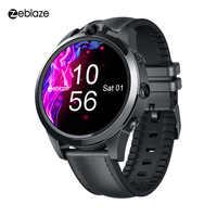 Zeblaze THOR 5 PRO bisel de cerámica 3GB + 32GB 800mAh GPS Relojes de Cuero correas Dual cámaras 4G reloj inteligente para IOS y Android