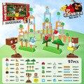 Подлинный авторизованный Angry Birds строительные блоки Рогатка катапульты интерактивный набор мультфильм Аниме кукла игрушка мальчик девочка...