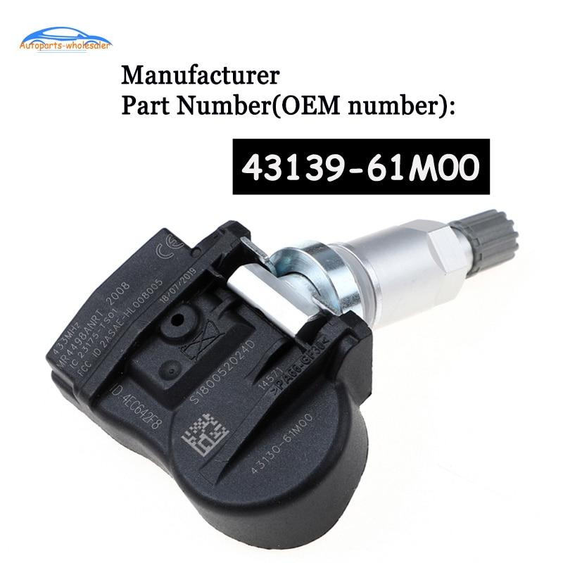 For Suzuki Vitara SX4 S cross Ignis Baleno Swift Jimmy TPMS Tire Pressure Sensor Monitor 43139 61M00 4313961M00 43130 61M00 Car Tire Pressure Alarm     - title=