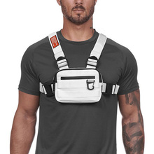 Hiking Backpack Vest Reflective Men Tactical Chest-Bags Travel-Pocket-Phone Cycling Mini