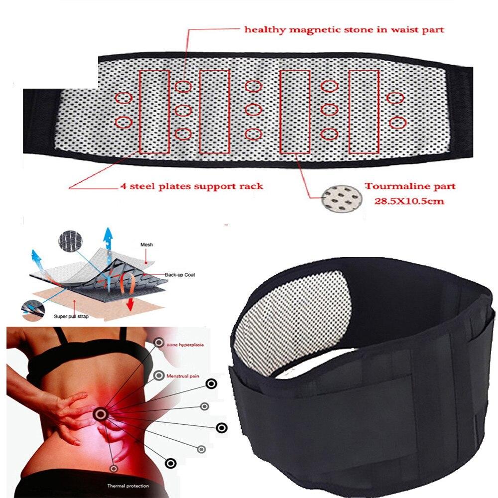 Einstellbare Turmalin Selbst heizung Magnetic Therapie Taille Unterstützung Gürtel Gürtel Lenden Zurück Taille Unterstützung Brace Posture Corrector