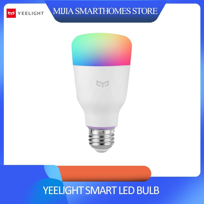 [ English Version ] Mi Yeelight Smart LED Bulb Colorful 800 Lumens 10W E27 Lemon Smart Lamp For Mi Home App White/RGB Option