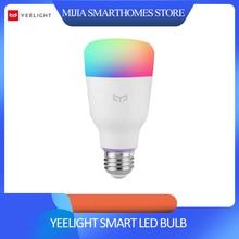 [İngilizce sürüm] Mi Yeelight akıllı led ampül renkli 800 lümen 10W E27 limon akıllı lamba Mi ev App için beyaz/RGB seçeneği