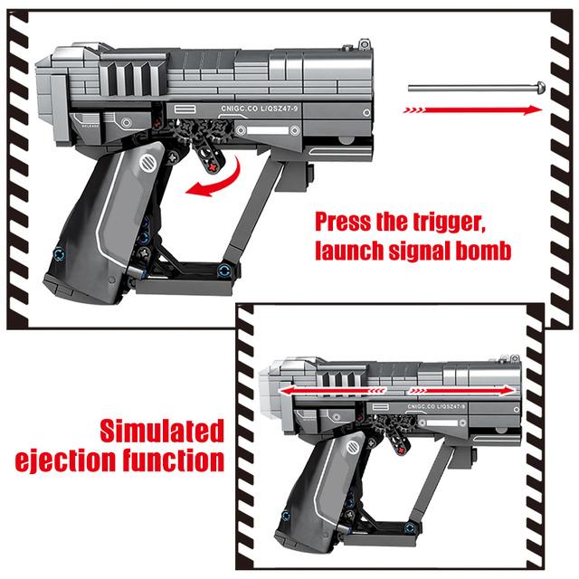 WW2 Weapon Pistol Gun Model Building Blocks Military Technic Gun Bullet City Police Figures Bricks Educational Toys for Children