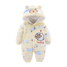 Baby Cute Rompers Winter Warm Boy Girl Clothes Cotton Newborn Infant thick Jumpsuits Clothing Hot