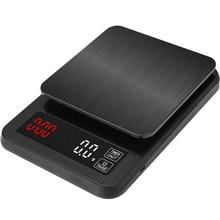 Точные Электронные кухонные весы 5 кг/0,1 г 10 кг/1 г, ЖК цифровые капельные кофейные весы с таймером, весы для дома