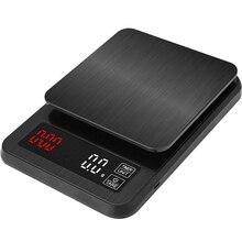 정밀 전자 주방 규모 5 kg/0.1g 10 kg/1g LCD 디지털 드립 커피 규모 타이머 무게 균형 가정용 규모