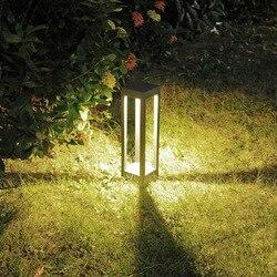 10W LED lampa trawnikowa AC90-265V Die-cast aluminium na zewnątrz wodoodporny (IP65) parku krajobrazowego światła drzwi filar światła H200mm