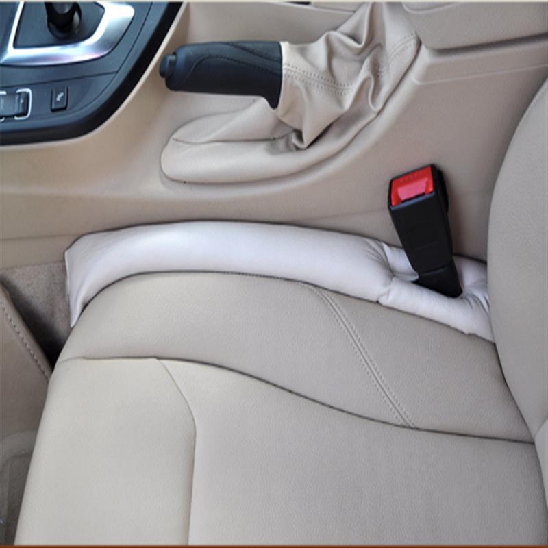 1PC สีเทาสีเบจสีน้ำตาลที่นั่งรถเบาะรอยแยก Gap Stopper PU หนัง Leakproof Protector เบาะรถยนต์