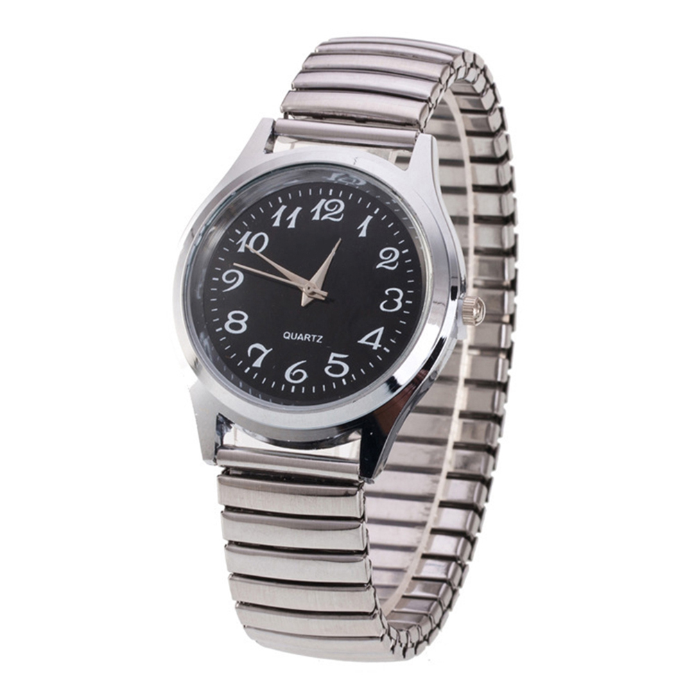 Men Quartz Watch Stainless Steel Band Alloy Lover Business Movement Wristwatch Elastic Strap Band Couple Wrist Clock Reloj Mujer