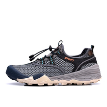 Breathable Air Mesh Men Hiking Shoes for Outdoor Sport Climbing Mountain Sneakers Antiskid Trekking Hunting Tourism Sneaker цены онлайн
