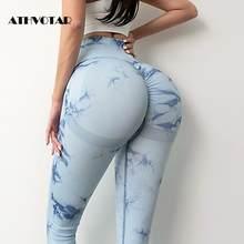 ATHVOTAR – Leggings Sexy pour femmes, taille haute, sans couture, Sport, Fitness, Push-Up, Gym