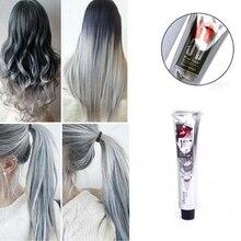 100 мл, модный крем для волос, унисекс, дымчато-серый, в стиле панк, светильник, серый, серебристый, Перманентная краска для волос, крем для девочек, красивые цвета волос