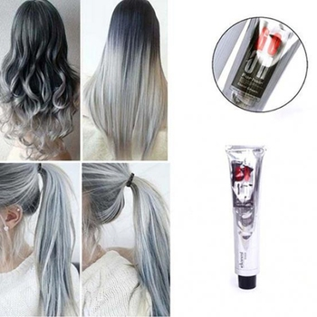 100ml Fashion Hair Cream Unisex Smoky Gray Punk Style Light Grey Silver Permanent Hair Dye Color Cream Girls Beauty Hair Colors 1