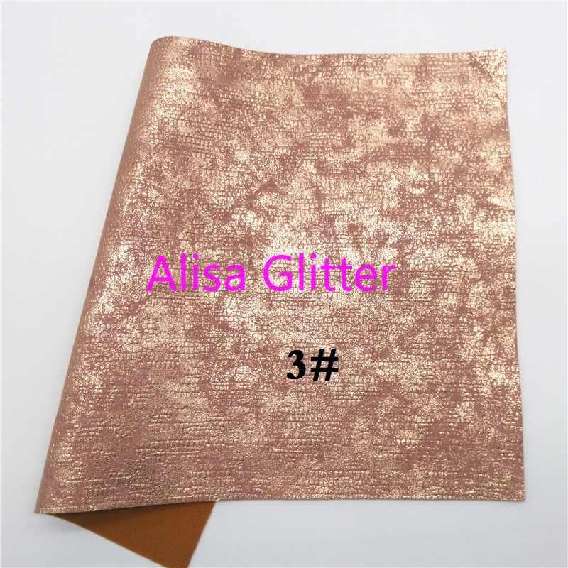 1 CHIẾC A4 KÍCH THƯỚC 21X29cm Alisa Long Lanh HOA HỒNG VÀNG Lấp Lánh Chất Liệu Vải Sọc Giả Da Chất Liệu Vải da tổng hợp PU cho Nơ DIY A02A