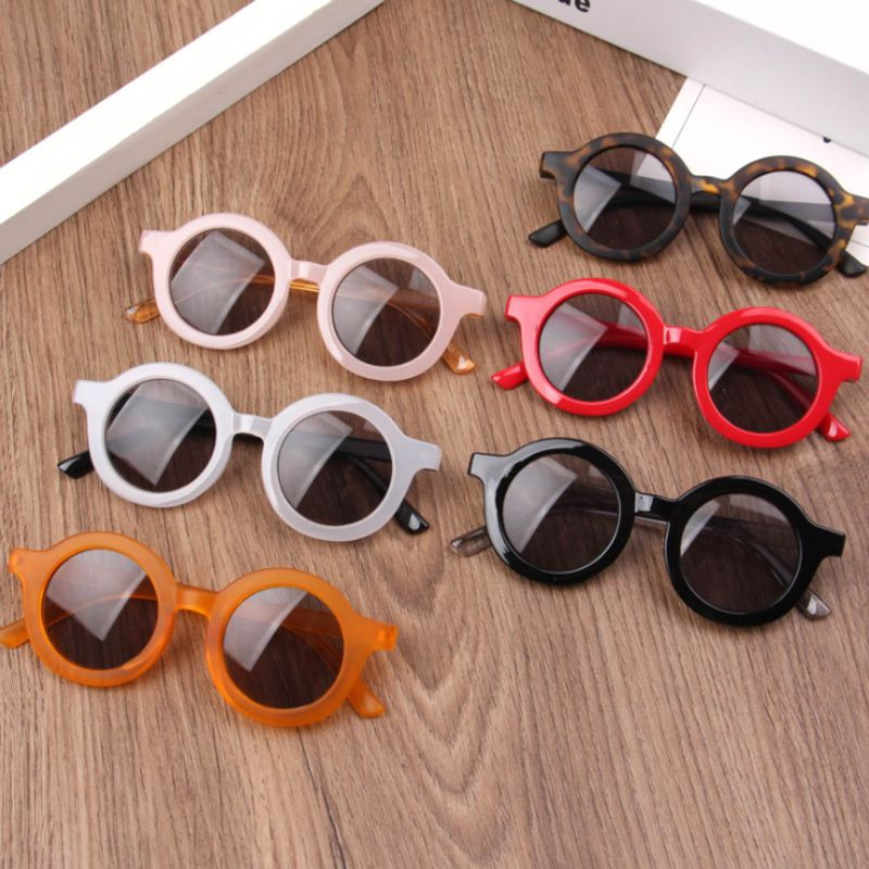Óculos de sol redondo infantil com flores, óculos escuros redondos fofos para crianças com proteção uv400 2020 oculos