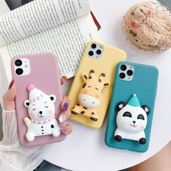 Phone Case For Samsung Galaxy S6 S7 edge S8 S9 S10 S20 Plus S10E A5 J3 J5 J7 2015/2016/2017 Cartoon Bear Soft TPU Silicone Cover image