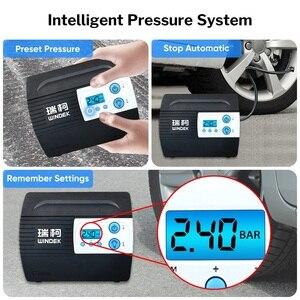 Image 3 - Автомобильный Компрессор WINDEK для автомобильного насоса шин 12V воздушный компрессор портативные цифровые шины