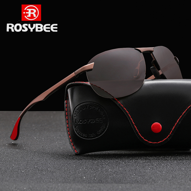 Gafas de sol de aluminio para hombre y mujer, lentes de sol polarizadas de metal de alta calidad para pescar y conducir 1
