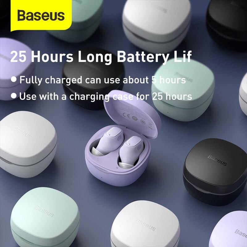Baseus WM01 мини TWS беспроводные наушники Bluetooth наушники 5,0 настоящие беспроводные наушники гарнитура для телефона Xiaomi наушники