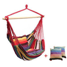 Hammock Chair Hanging Rope Chair Swing Chair Seat  for Garden Indoor Outdoor Camping Travel Hammock Swings Garden Furniture